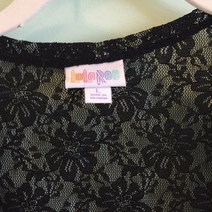 LuLaRoe Black Lace Joy size large